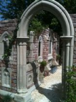 Garden Folly Gothic arch Abbey doorway